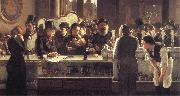 john henry henshall,RWS Behind the Bar oil painting artist